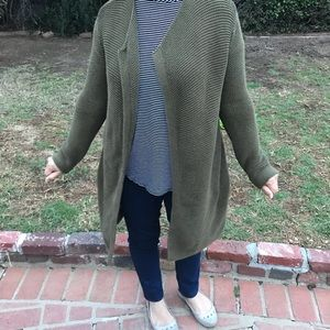 Old Navy Large Olive Green Long Cardigan